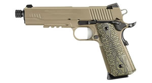 Sig Sauer 1911 Scorpion Pistol 1911R45SCPNTB, 45 ACP, 5 in, Hogue Custom G10 Grip, Flat Dark Earth Finish, 8 + 1 Rd, Thread BBL