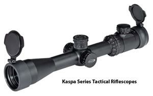 Weaver Kaspa Rifle Scope 849814, 2-10x, 44mm Obj, 30mm Tube Dia, Matte Black, Mil-Dot Reticle