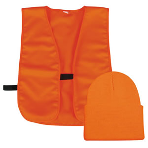 Outdoor Cap BLZKVST Orange Vest And Orange Knit Cap 1 Dozen
