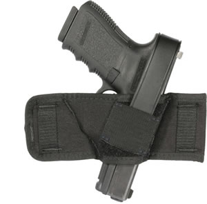 Blackhawk 40CS00BK Compact Belt Slide Holster , Most Autos and Revolvers, Black