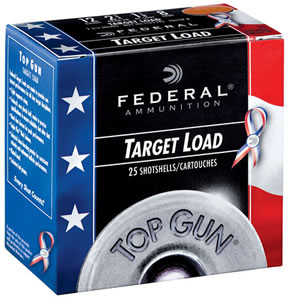 Federal Target Load Top Gun TGL12US8, 12 Gauge, 2.75 in, 1 1/8 oz, 1145 fps, #8 Target Load, 25 Rd/bx, Case of 10 Boxes