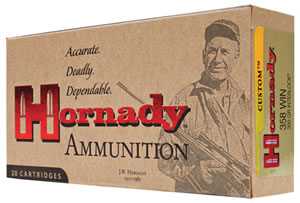 Hornady Superformance Ammunition 91318, 358 Win, Soft Point, 200 GR, 2180 fps, 20 Rd/bx