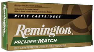 Remington Rifle Ammunition RM300AAC6, 300 AAC Blackout, Match King BTHP, 125 GR, 2215 fps, 20 Rd/bx