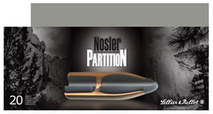 Sellier & Bellott Ammunition V340342U, 270 Win, Nosler Partition, 100 GR, 2838 fps, 20 Rd/bx