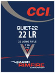CCI Quiet-22 Ammunition 960, 22 Long Rifle, Lead Round Nose, 40 GR, 710 fps, 50 Rd/bx