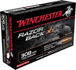Winchester Razorback Ammunition S308WB, 308 Win, Hollow Point, 150 GR, 2810 fps, 20 Rd/bx