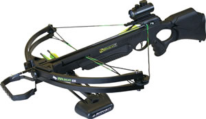 "Barnett 78073 Wildcat C5 Crossbow Package, 150 lbs Draw, 320 FPS, Red Dot Sight, Quiver. (3) 20"" Arrows Included, Black Finish"