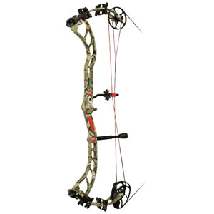 PSE 1201MPLIF2970 Bow Madness 70# Compound Bow, LH, 70 lbs Draw, 322-330 FPS, Camo Finish