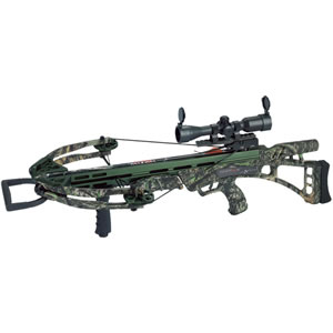 "Carbon Express 20260 Covert SLS Crossbow Kit, 185 lbs Draw, 355 FPS, 4x32 Multi-Reticle Scope w/Red/Green Illumin, 3 Arrow Quiver, (3) Carbon Express Maxima Hunter 20"" Crossbolts, Camo Finish"