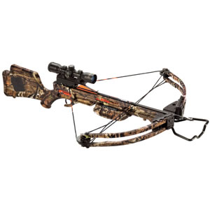 Ten Point WR1215.6330 Wicked Ridge Warrior Crossbow Package, 175 lbs Draw, 300 FPS, 3x Multi-Line Scope, Quiver, 3 Arrows, Camo Finish