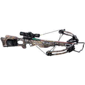 Ten Point C12020-4521 Turbo XLT II w/ACUdraw Crossbow Package, 180 lbs Draw, 345 FPS, Scope, Quiver, 4 Arrows, Camo Finish