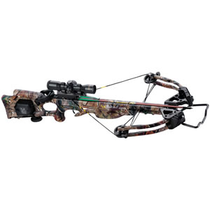 Ten Point C12020-4522 Turbo XLT II w/ACUdraw Crossbow Package, 180 lbs Draw, 345 FPS, Scope, Quiver, 4 Arrows, Camo Finish