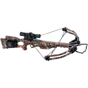 Ten Point C12047-6521 Titan Xtreme w/ACUdraw 50 Crossbow Package, 180 lbs Draw, 333 FPS, Scope, Quiver, 3 Arrows, Camo Finish