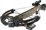 "Barnett 78020 Predator 375 CarbonLite Crossbow Package, 175 lbs Draw, 375 FPS, 3x32 Scope, Quiver, (4) 22"" Arrows Included, Camo Finish"