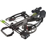 "Barnett 78201 Vengeance Crossbow Package, 165 lbs Draw, 365 FPS, 3x32 Illuminated Scope, Quiver, (3) 22"" Arrows Included, Carbon Black Finish"