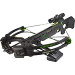 "Barnett 78111 Zombie 350 Crossbow Package, 175 lbs Draw, 350 FPS, Premium Illuminated Reticle Scope, Quiver, (3) 20"" Arrows Included, Black Finish"