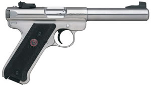 Ruger Model KMKIII512 Pistol 10103, 22 Long Rifle, 5.5 in, Black Synthetic Grip, Stainless Finish, 10+1 Rd