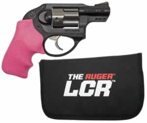 Ruger Model LCR-P Pistol 5409, 38 Special, 1.875 in, Pink Grip, Black/Pink Finish, 5 Rd