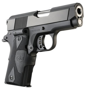 Colt New Agent Pistol O7810DCT, 45 ACP, 3 in, Double Diamond Slim Fit Grip, Black Finish, 7 + 1 Rds
