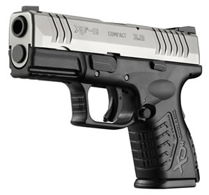 Springfield Model XDM Compact Pistol XDM9389CSNJ, 9mm, 3.8 in, Mega Lock Texture Grip, 2 Tone Finish, 13 + 1 Rds