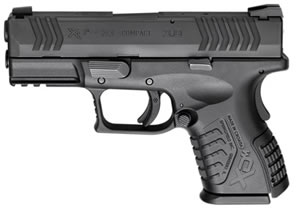 Springfield Model XDM Compact Pistol XDM9384CBNJ, 40 S&W, 3.8 in, Mega Lock Texture Grip, Black Finish, 11 + 1 Rds