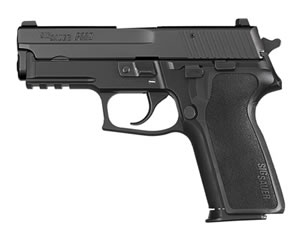 Sig Sauer Model P229 DAK Pistol 229R40BSSDAKCA, 40 S&W, 3.9 in, Black Polymer Grip, Black Finish, 10+1 Rd, Night Sights, CA Approved