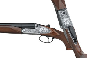 Fausti Engraved Side by Side Shotgun 29203, 20 Ga, 26 in, 3 in Chmbr, Side by Side