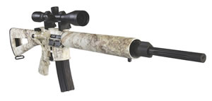 DPMS Panther Prairie Rifle RFA3PPS, 223 Remington, 20 in, A2 Skeletonized Stock, Snow Finish, 20+1 Rds
