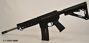 2 Vets Blackout 300 Rifle 2VA300BLK, 300 AAC Blackout, 16 in, Semi-Auto, Magpul CTR Stock, Black Finish, 30+1 Rds
