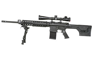 Armalite AR A10SASS Rifle A10SBF, 308 Win, 20 in, PRS Stock, Black Finish, Flat Top, 20 Rd, Flat Top