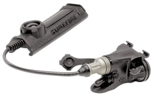 "Surefire Remote Dual Switch XT07 for the X200, X300, X400 WeaponLights, 7"" Cable Remote, Momentary-On Pressure Pad and Constant-On Pressbut, Black"