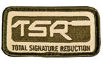 Surefire Patch 71-06-465, OD/Tan Rectangle Patch w/ TSR Logo Velcro Backing