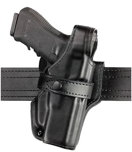 "Safariland 070-310-161, Model 070 Level III Retention Duty Right Hand Holster, SSIII Mid-Ride, S&W 1076/4576, 4.25"", Plain Black"