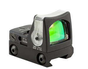Trijicon RM08A33 Red Dot Scope, RM33, Ruggedized Miniature Reflex (RMR), Illuminated Red Dot, 1x 22x16mm Obj, 12.9 MOA, LED, Unlimited Eye Relief, Black Finish