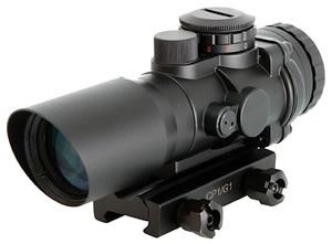 Sig Sauer SCOPECP1 Prismatic Optical Scope, Reflective Prism Ranging Reticle, 3x 32mm Objective, Black Finish