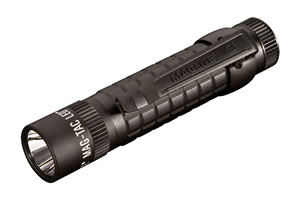 Maglite SG2LRE6 LED Mag-Tac Plain Bezel 310 Lumen Aircraft Aluminum Flashlight, Waterproof, Black
