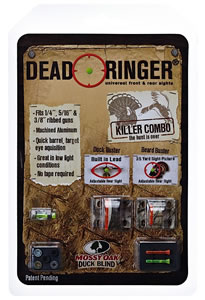 Dead Ringer DR4362 Killer Combo Mossy Oak Turkey/Wingshooting Fiber Optic Sight