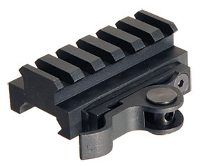 Aimshot MT61172, Quick Release Riser Base For AR-15 Style, Black Finish