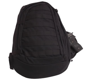 "TacProGear BCGB1, Covert Backpack, 13"" x 19"" x 5"", Black"