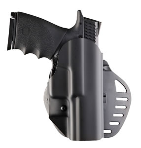 Hogue 52074, PowerSpeed ARS Stage 1 - Carry 12 S&W M&P 9mm/40S&W/357Sig Right Hand Holster, Black Hard Plastic Matte