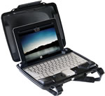 Pelican 1075000110  i1075 iPad Case Hard Plastic Black