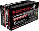 Winchester Ammo S17W20 Varmint, 17 Winchester Super Magnum, High Velocity, Polymer Tip, 20 Grain, 50 Rounds, 5 Box, 250 Rds