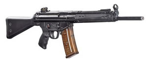 ATI AT43 Tactical Rifle GAT43, 223 Rem, 17 in BBL, Semi-Auto, HK33 Clone, Blk Fixed Stock, Blk Finish, 10 Rds