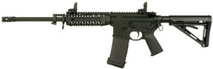Black Rain Ordnance Rifle PG5, 223 Rem/5.56 Nato, 16 in Fluted BBL, Semi-Auto, Blk MOE Stock, Blk Finish, 9 in Quad Rail, 30 Rds