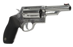 Taurus Judge 45/410 Tracker Revolver 2441049TPSS, 410 Ga/45 Long Colt, 4 in, Ribber Overlay Grip, Stainless Finish, 5 Rd