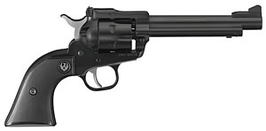 Ruger Single Six NR5 Convertible Revolver 0621, 22 LR/22 Mag, 5.5 in BBL, Black Checkered Grip, Blued Finish, 6 Rds