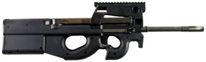 FN Herstal Model PS90 STD Rifle 3848950464, 5.7mm x 28mm, 16.04 in, Semi-Auto, Synthetic Stock, Black Finish, 10+1 Rds, w/ Red Dot Scope