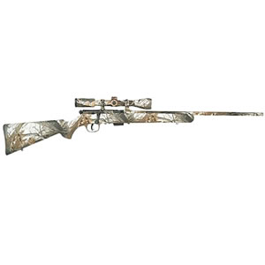 Savage Model 93R17 XP Camo Snow Rifle 96776, 17 HMR, 22 in, Bolt Action, Realtree Snow Camo Stock, Matte Finish, 5 Rds, Accutrigger