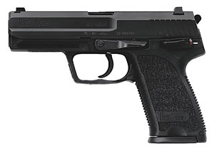 HK USP 40 V7 LEM Pistol 704007A5, 40 S&W, 4.25 in, Semi-Auto, DAO, (No Manual Safety/Decocking Lever) Synthetic Grip, Black Finish, 10+1