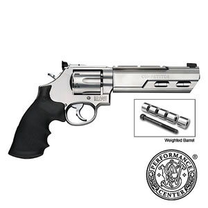 Smith & Wesson Model 629 Competitor Revolver 170320, 44 Remington Mag, 6 in Weighted BBL, Hogue Grip, Stainless Finish, Adj Sights, 6 Rds